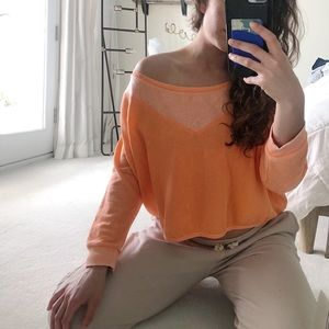 Slouchy crop